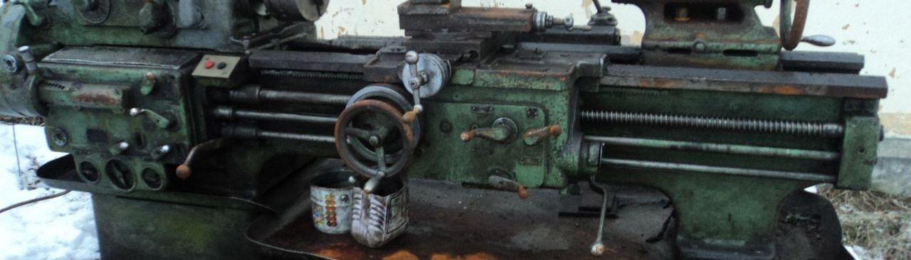 Фото: Старый станок на металлолом