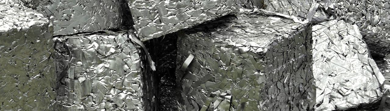 Фото: Пресованное железо сданное на металлолом